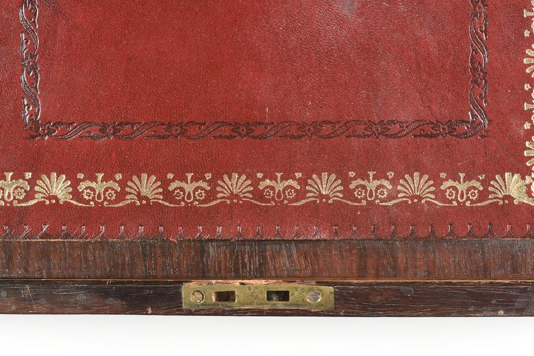 A WILLIAM IV MOTHER OF PEARL INLAID ROSEWOOD VENEERED - 5