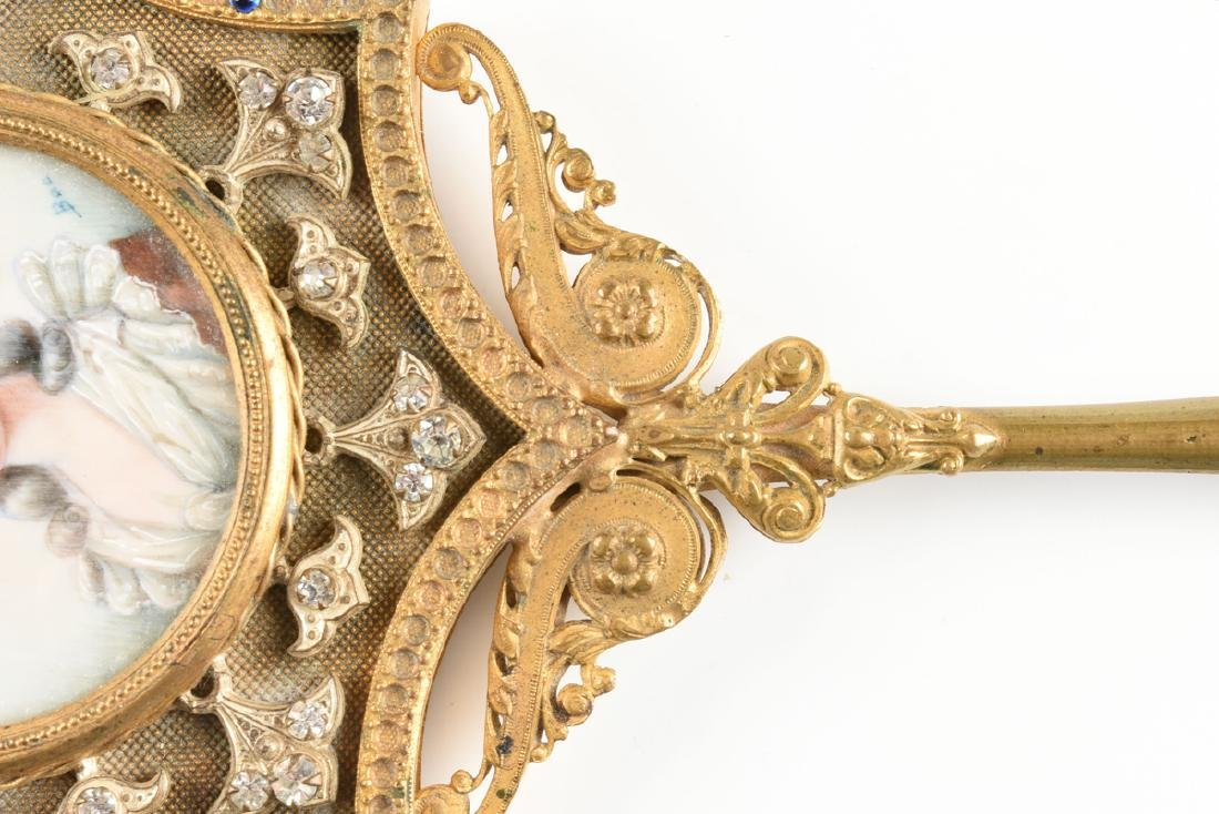 A LOUIS XVI REVIVAL FAUX JEWELED GILT METAL AND PAINTED - 3