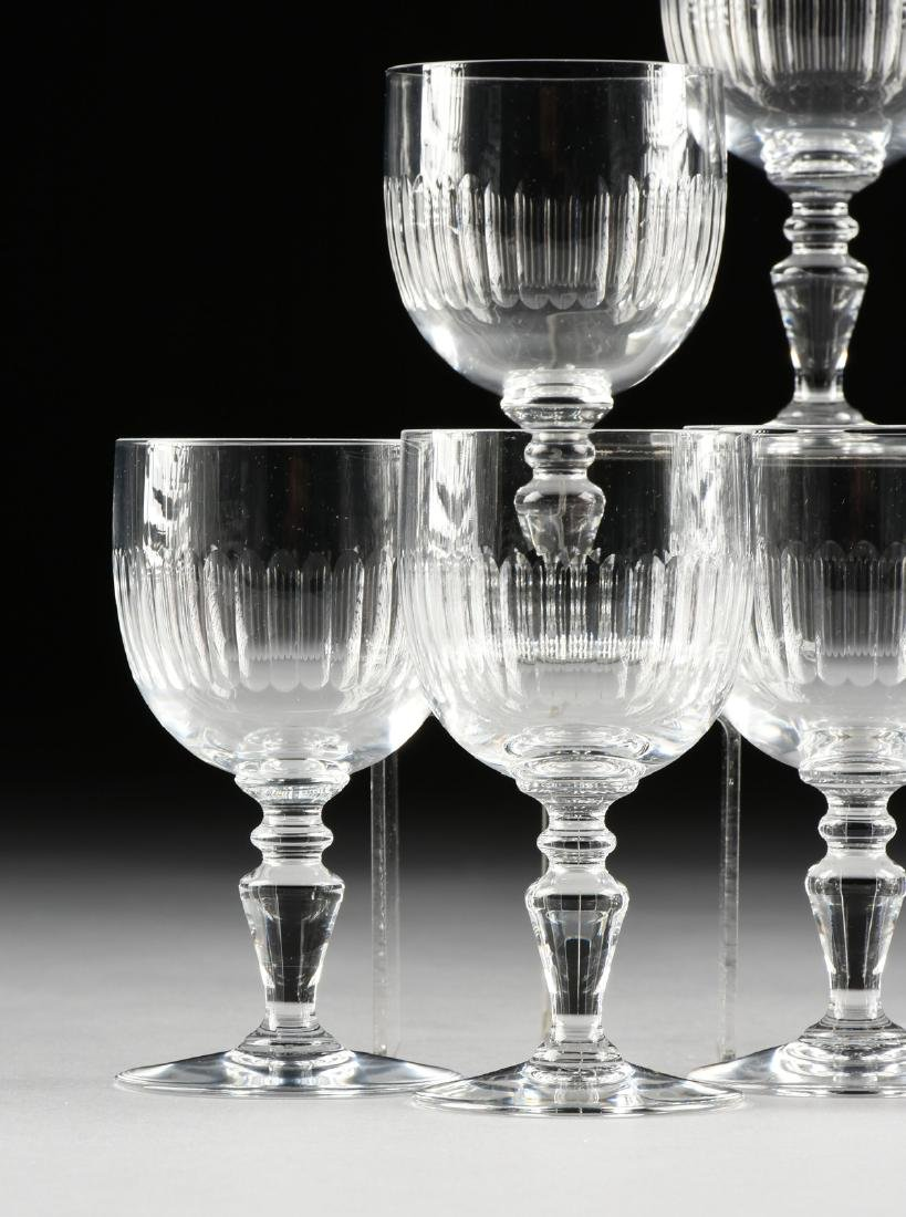 A SET OF EIGHT BACCARAT CLEAR CRYSTAL CLARET WINE - 2