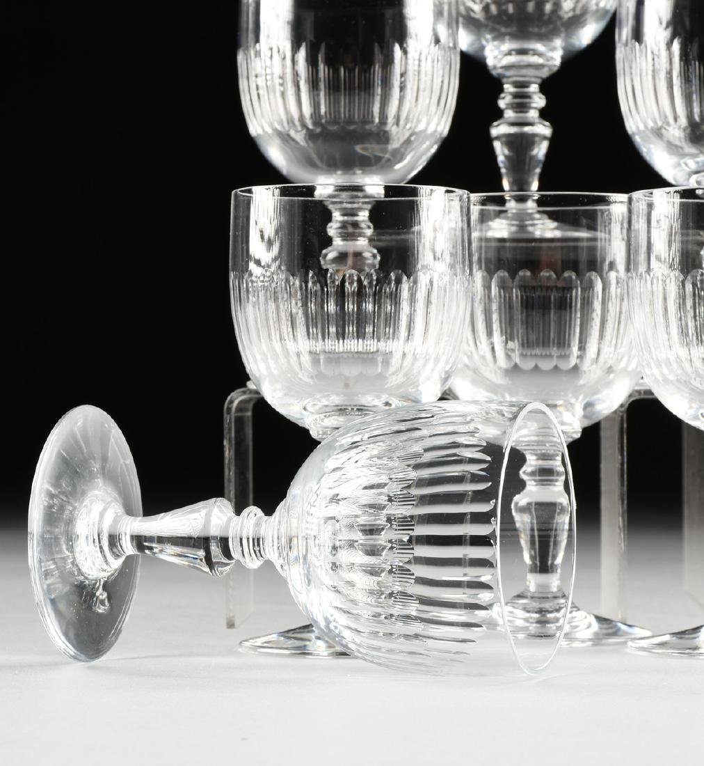 A SET OF EIGHT BACCARAT CLEAR CRYSTAL CLARET WINE - 3
