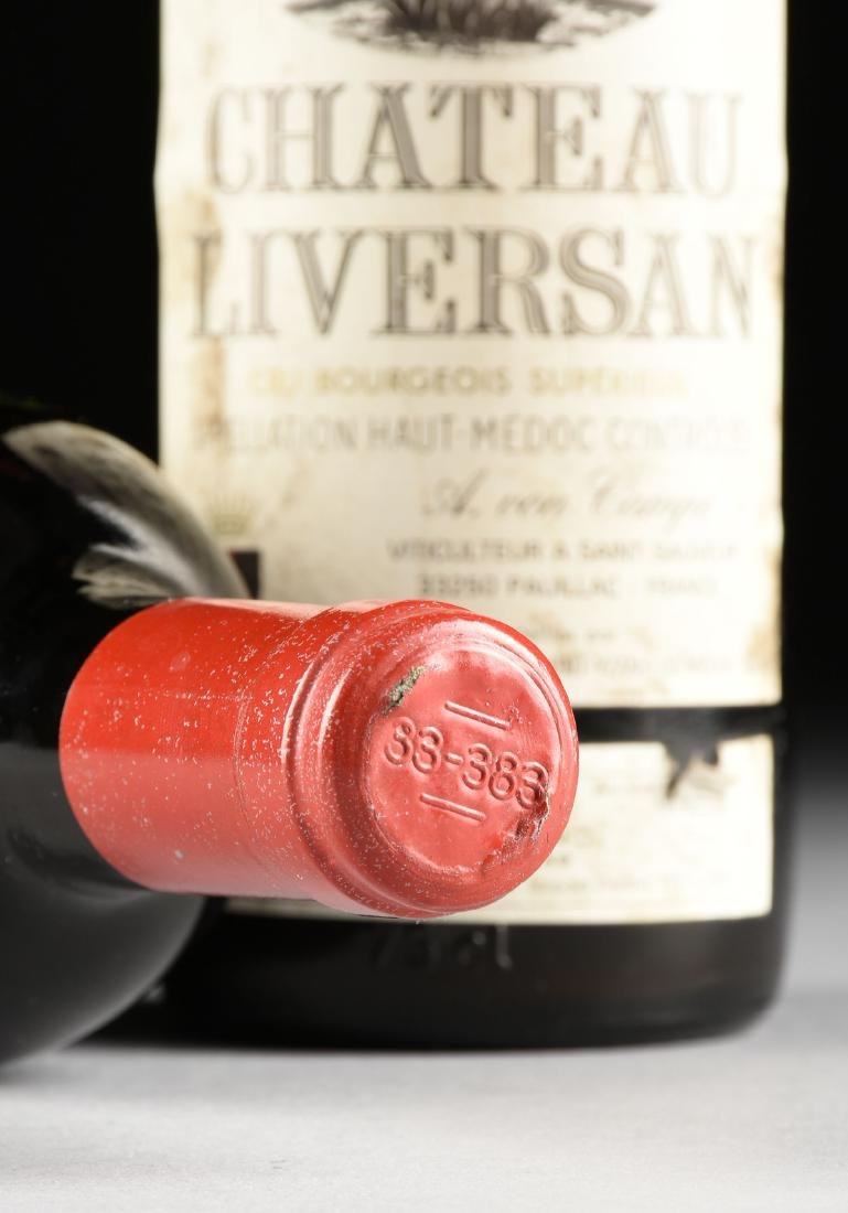 A GROUP OF THREE BOTTLES OF 1975 CHÂTEAU LIVERSAN WINE, - 10