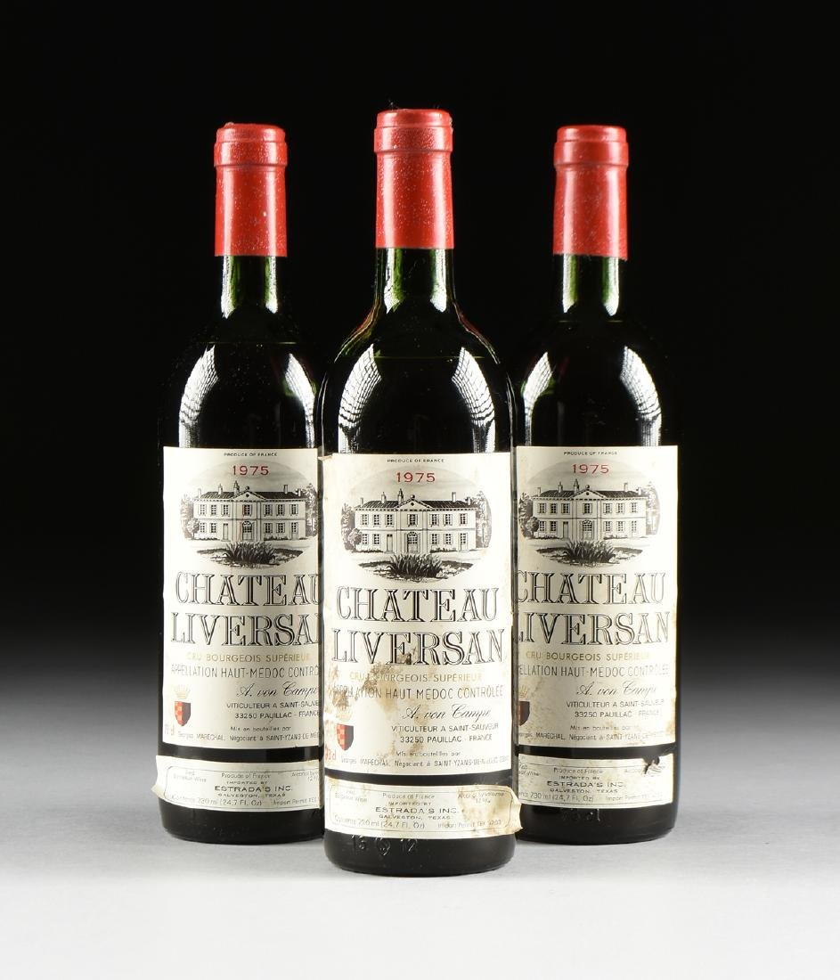 A GROUP OF THREE BOTTLES OF 1975 CHÂTEAU LIVERSAN WINE,