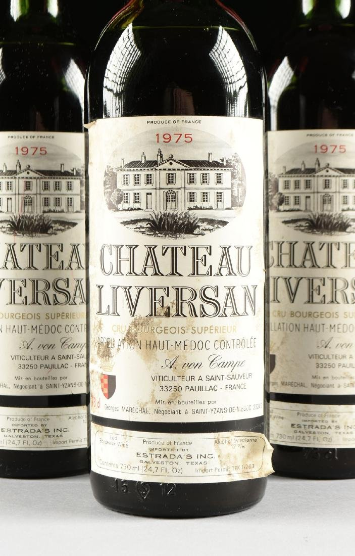 A GROUP OF THREE BOTTLES OF 1975 CHÂTEAU LIVERSAN WINE, - 2