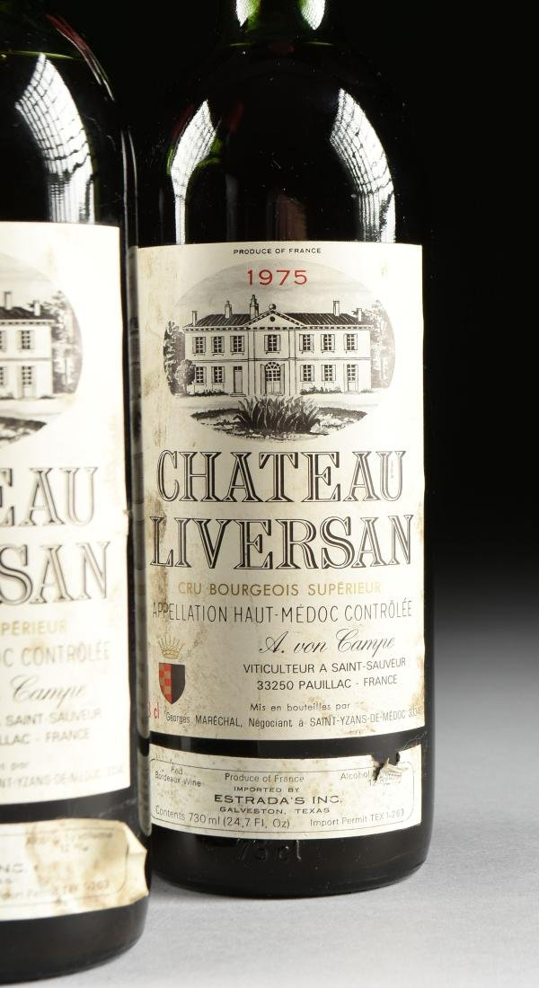A GROUP OF THREE BOTTLES OF 1975 CHÂTEAU LIVERSAN WINE, - 3