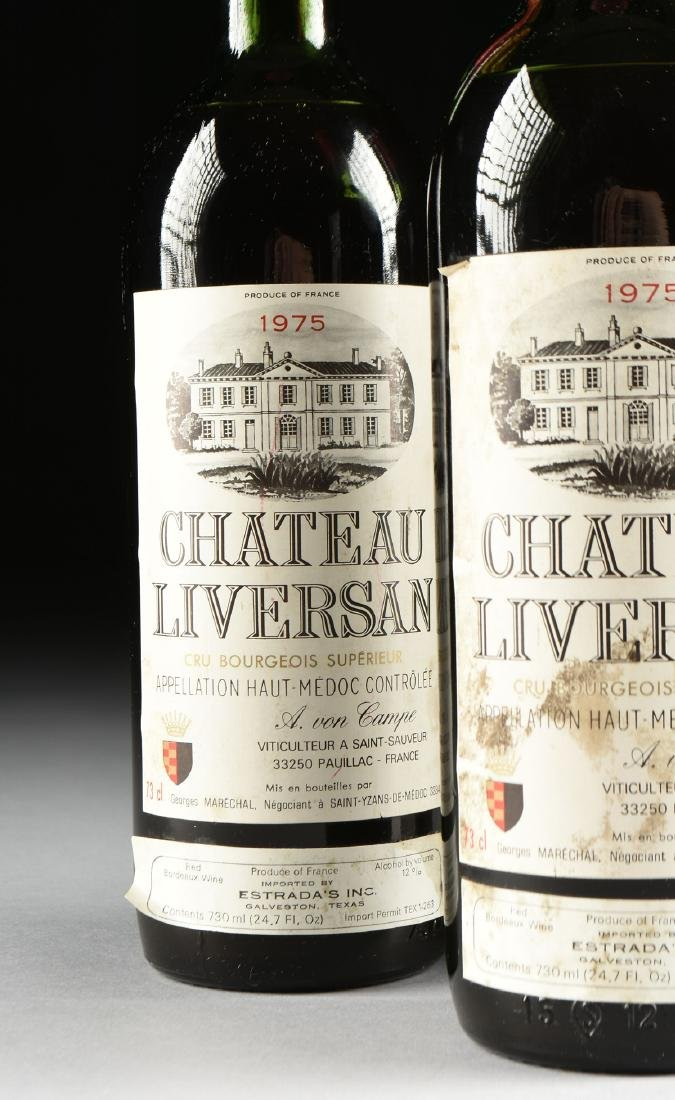 A GROUP OF THREE BOTTLES OF 1975 CHÂTEAU LIVERSAN WINE, - 4
