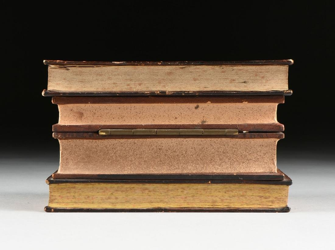 A FRENCH BOOK FORM FITTED TANTALUS, CIRCA 1920-1950, - 8