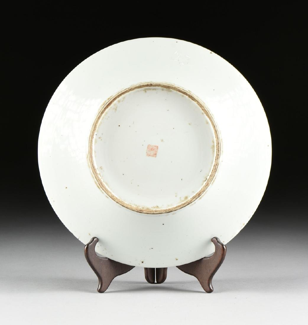 A CHINESE EXPORT FAMILLE ROSE PORCELAIN CHARGER, - 5