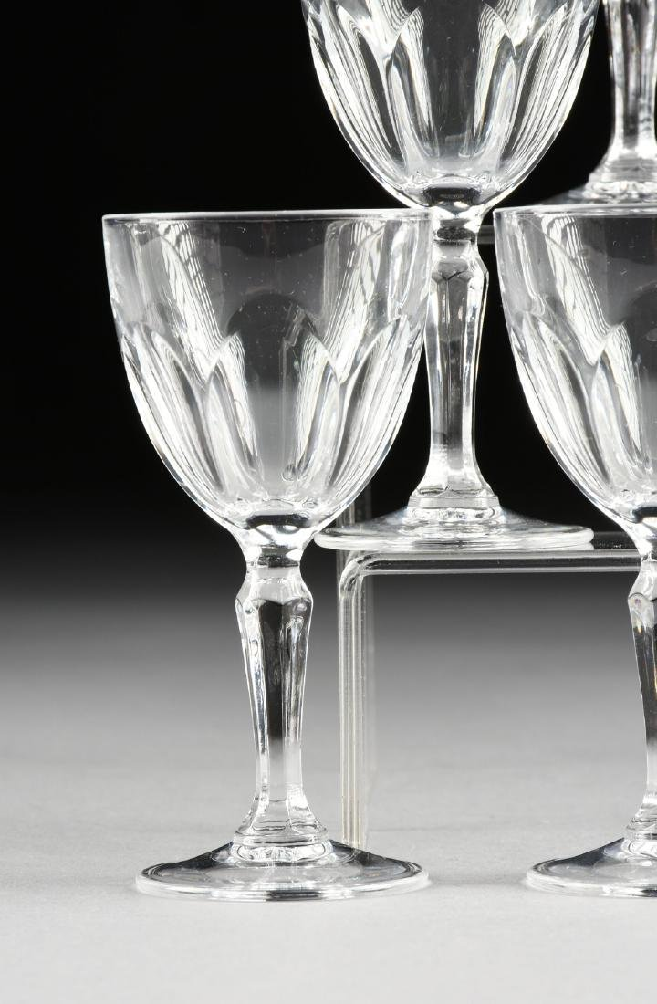 A SET OF SIX VINTAGE CLEAR CRYSTAL SHERRY GLASSES, - 2