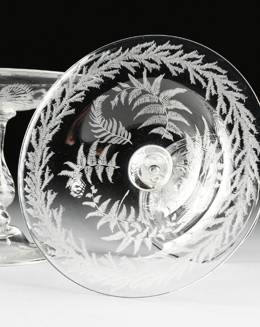 A PAIR OF AMERICAN OR ENGLISH HAND BLOWN CRYSTAL - 3