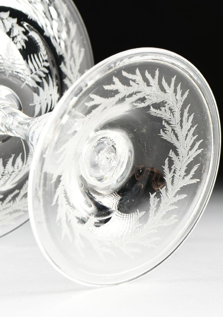 A PAIR OF AMERICAN OR ENGLISH HAND BLOWN CRYSTAL - 8
