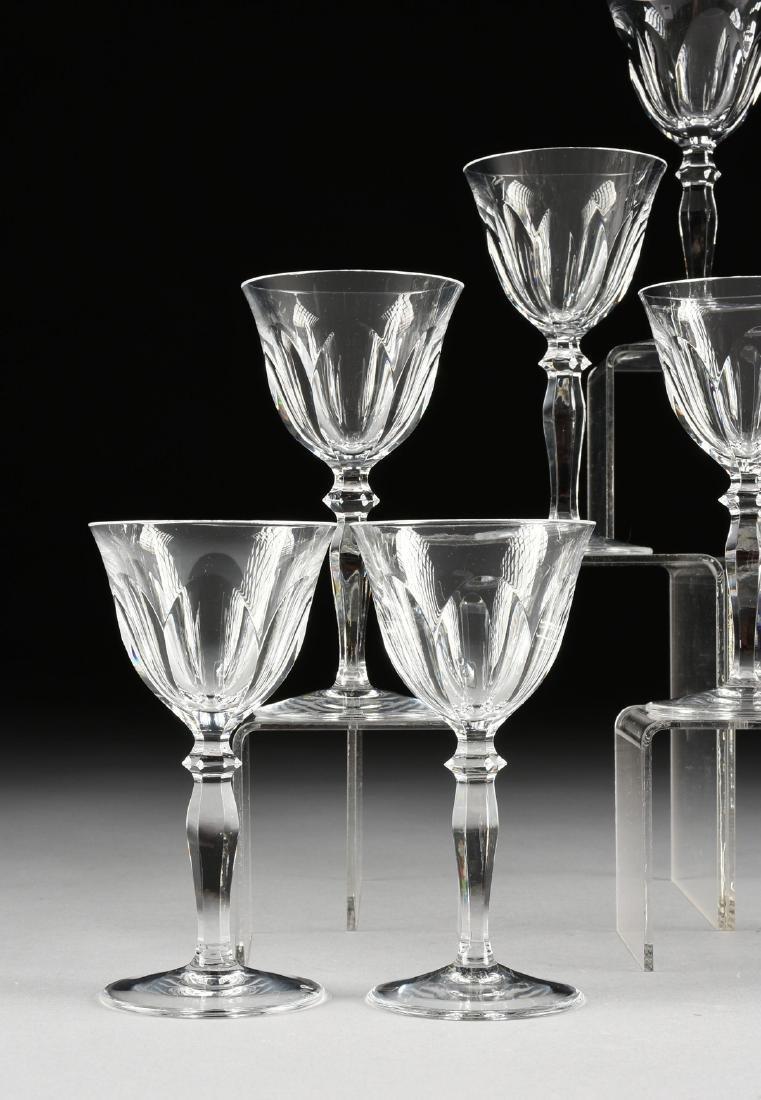 A SET OF TEN PEILL & PUTZLER CUT CRYSTAL WINE GLASSES - 2