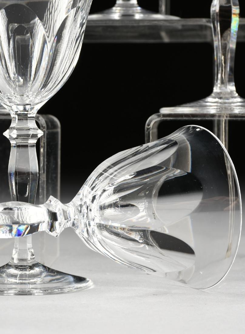 A SET OF TEN PEILL & PUTZLER CUT CRYSTAL WINE GLASSES - 3