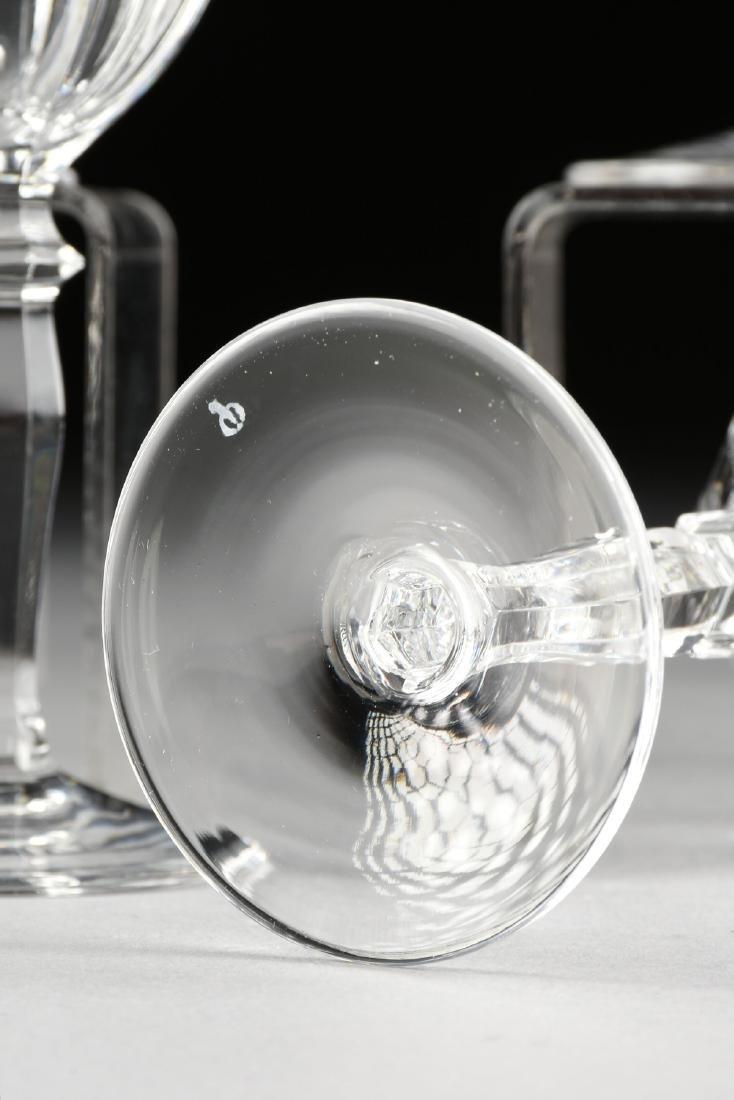 A SET OF TEN PEILL & PUTZLER CUT CRYSTAL WINE GLASSES - 4