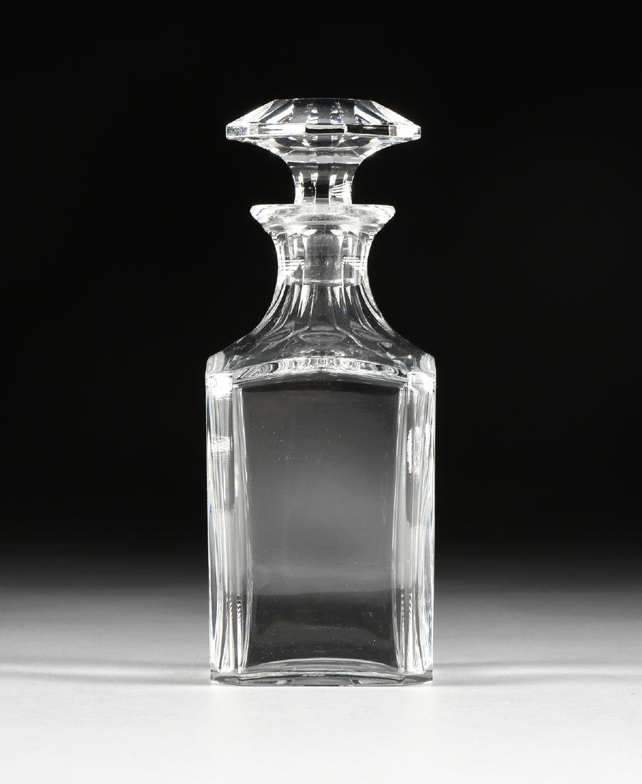 A BACCARAT MOLDED CRYSTAL WHISKEY DECANTER IN THE