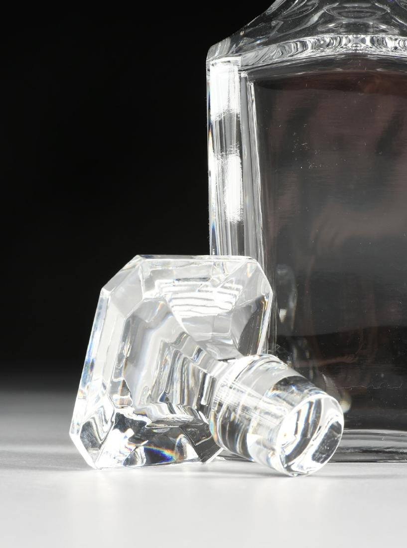 A BACCARAT MOLDED CRYSTAL WHISKEY DECANTER IN THE - 3