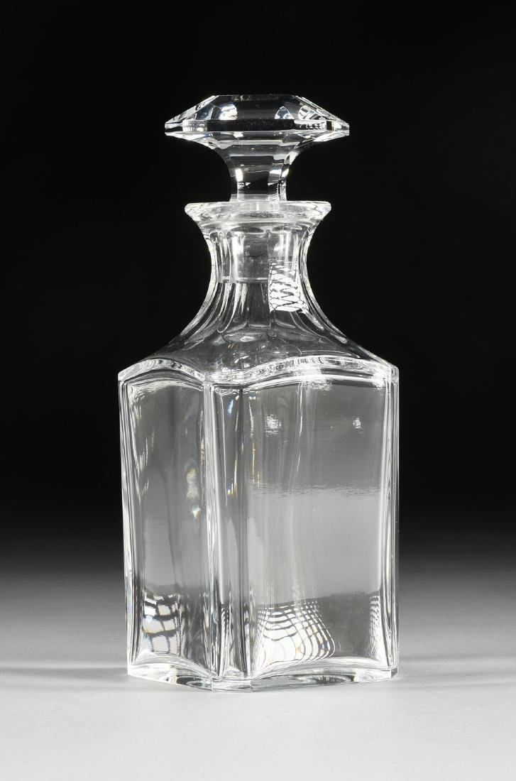A BACCARAT MOLDED CRYSTAL WHISKEY DECANTER IN THE - 5