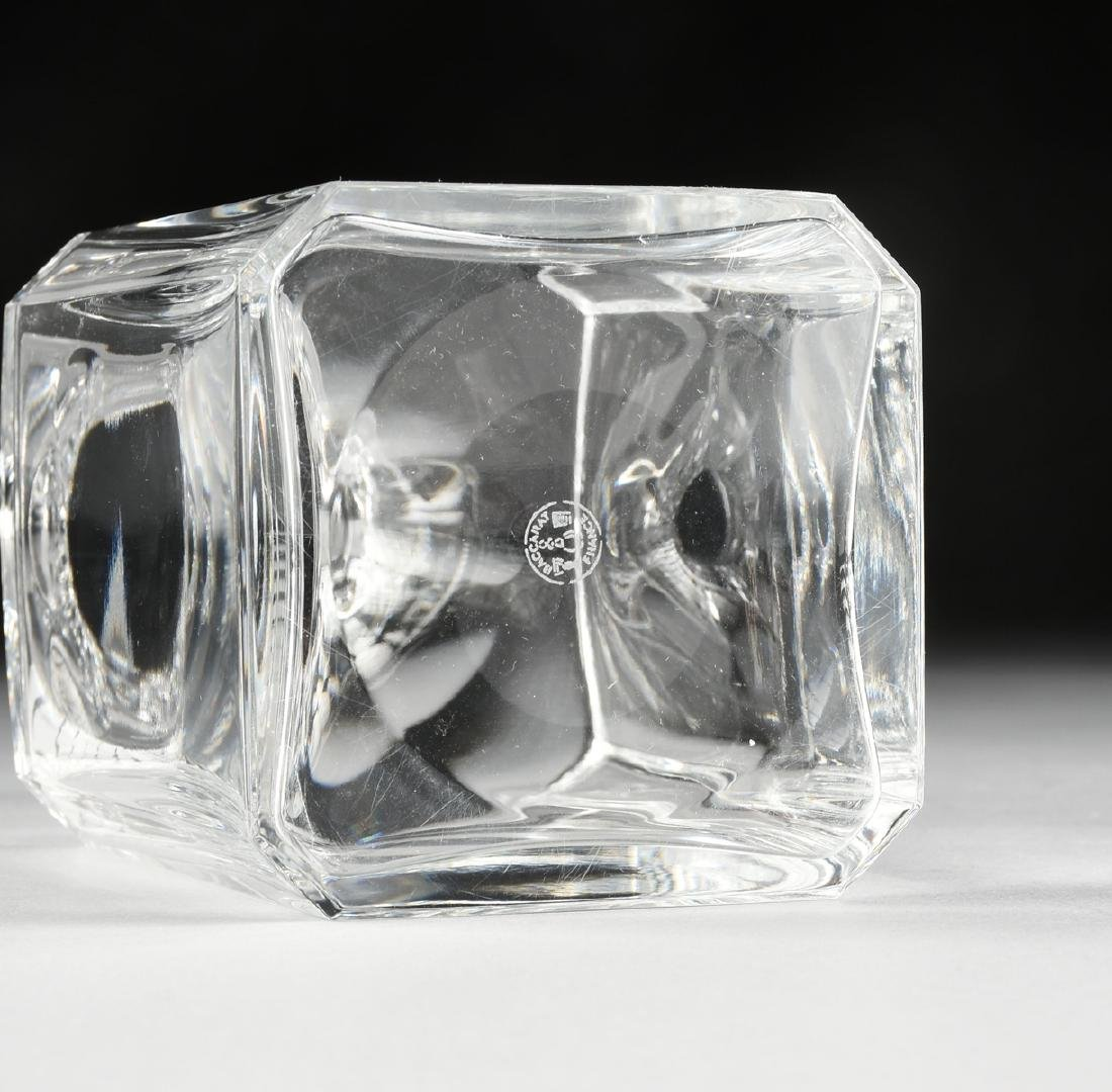A BACCARAT MOLDED CRYSTAL WHISKEY DECANTER IN THE - 6