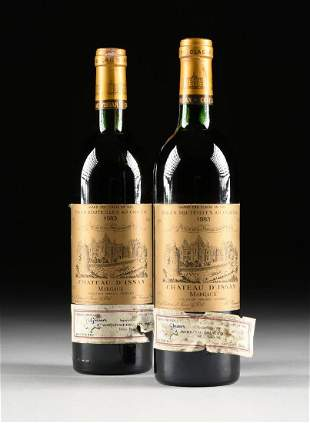A GROUP OF TWO BOTTLE OF 1983 CH�TEAU D'ISSAN WINE,