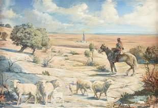 JOSEPH SILHOVA (American 20th Century) A PAINTING,
