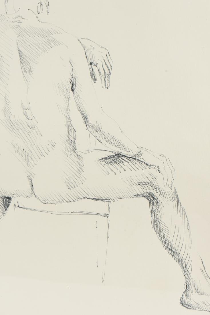 """FORD RUTHLING (American 1933-2015) A DRAWING, """"Male - 4"""