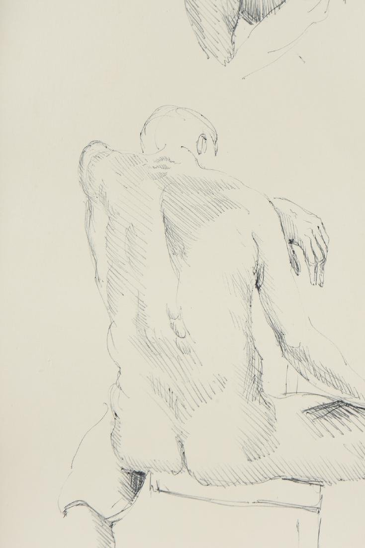 """FORD RUTHLING (American 1933-2015) A DRAWING, """"Male - 5"""