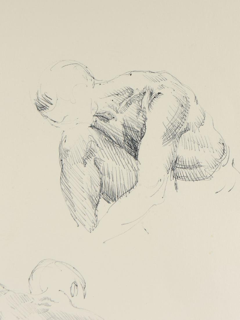 """FORD RUTHLING (American 1933-2015) A DRAWING, """"Male - 6"""
