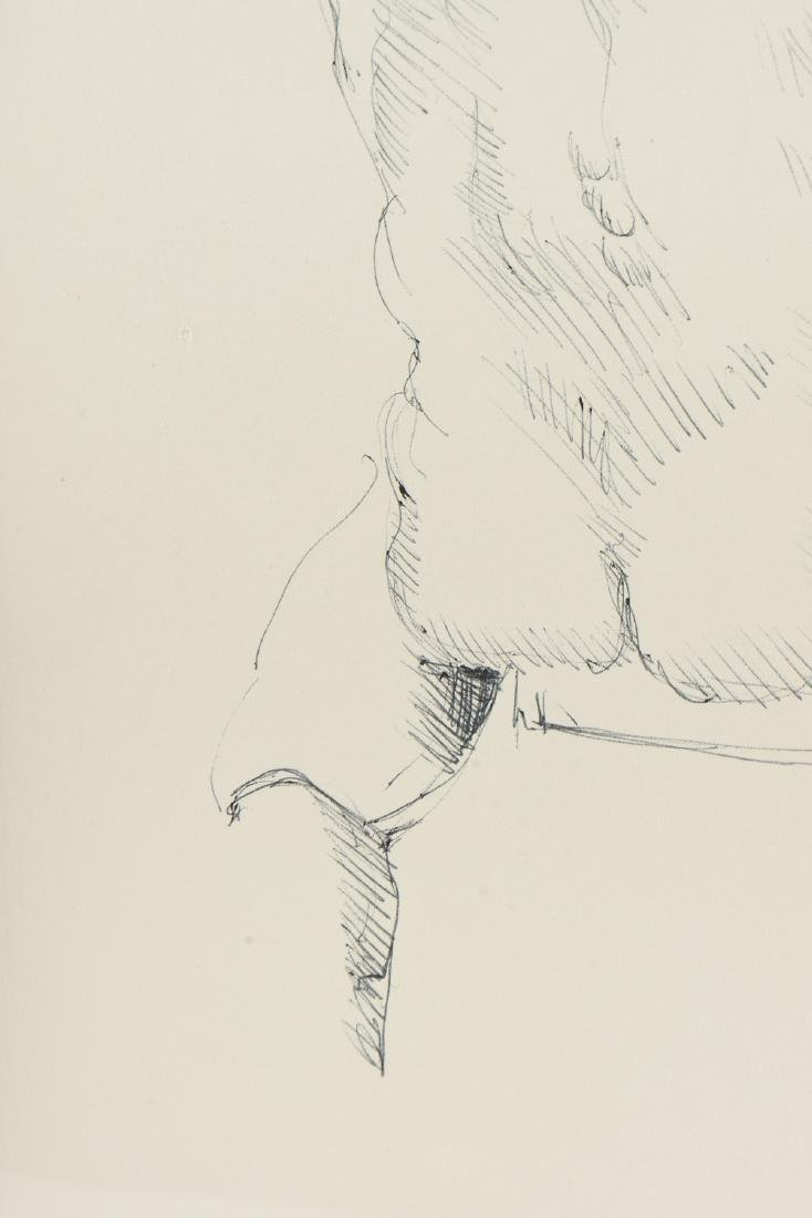 """FORD RUTHLING (American 1933-2015) A DRAWING, """"Male - 7"""