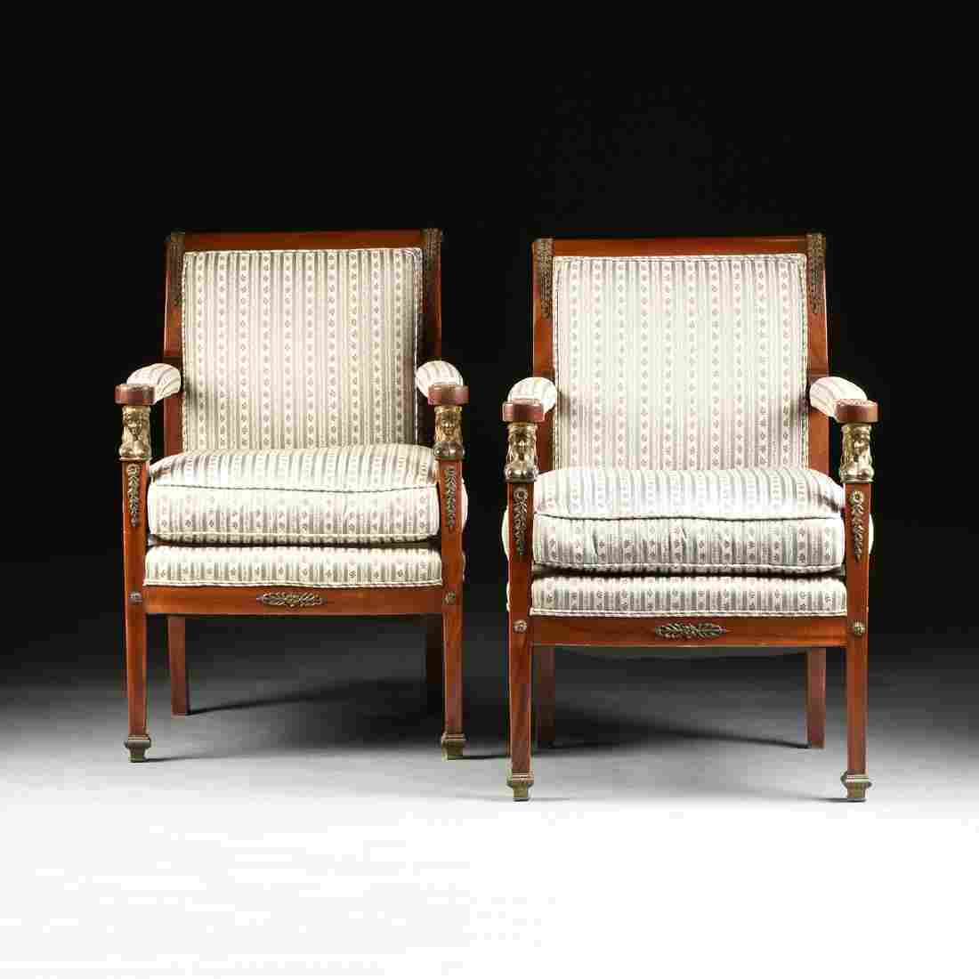 A PAIR OF ITALIAN NEOCLASSICAL STYLE ORMOLU MOUNTED
