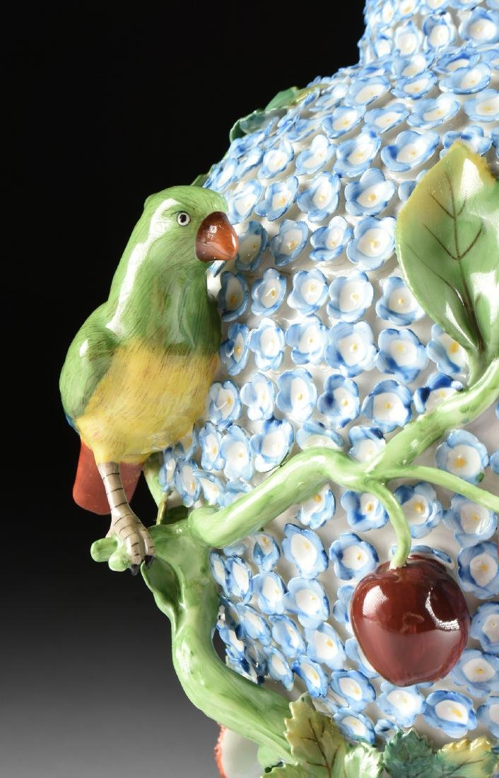 A PAIR OF DRESDEN ENCRUSTED FLOWER AND BIRD ENAMELED - 5
