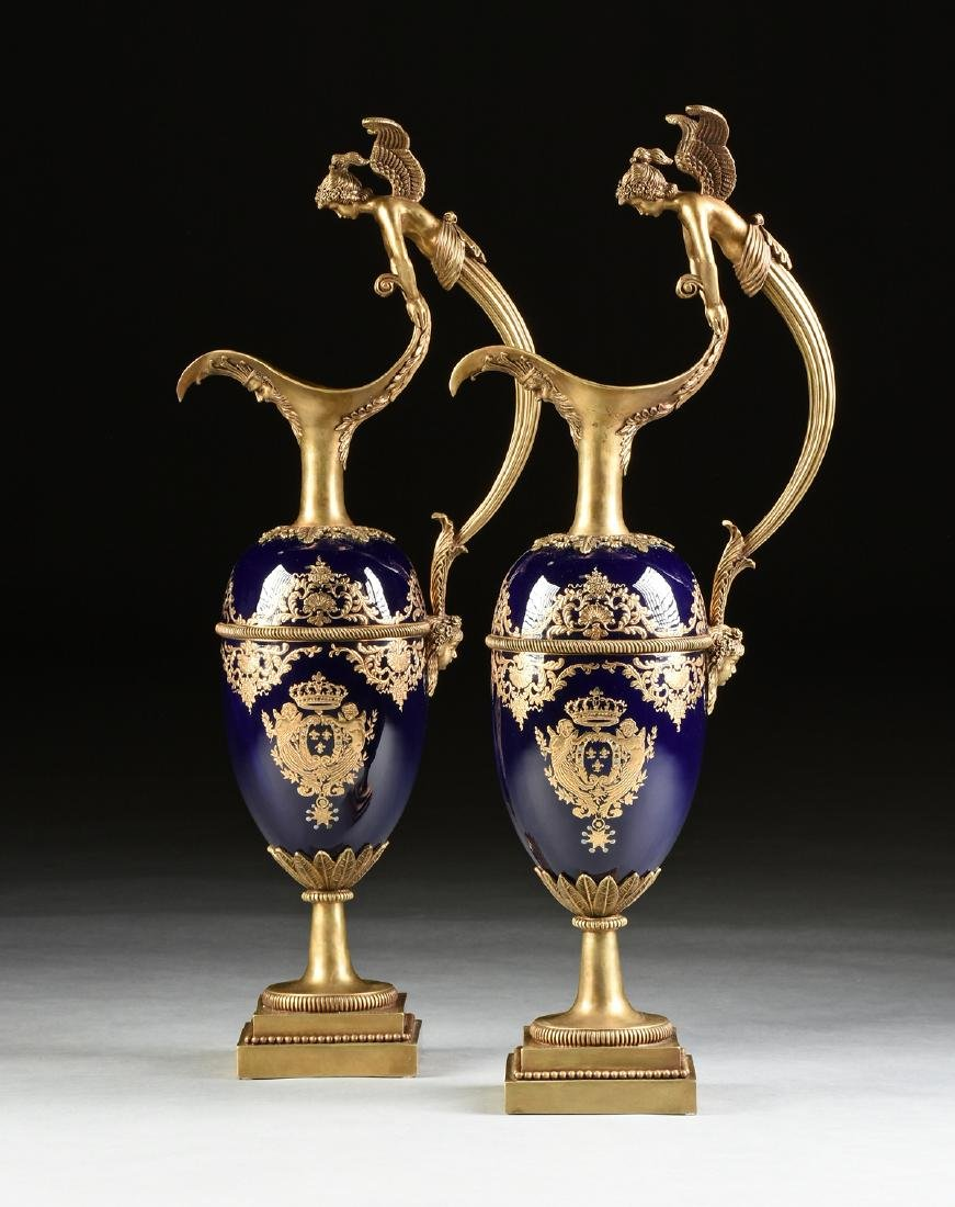 A PAIR OF CHINESE EXPORT PARCEL GILT ENAMELED AND