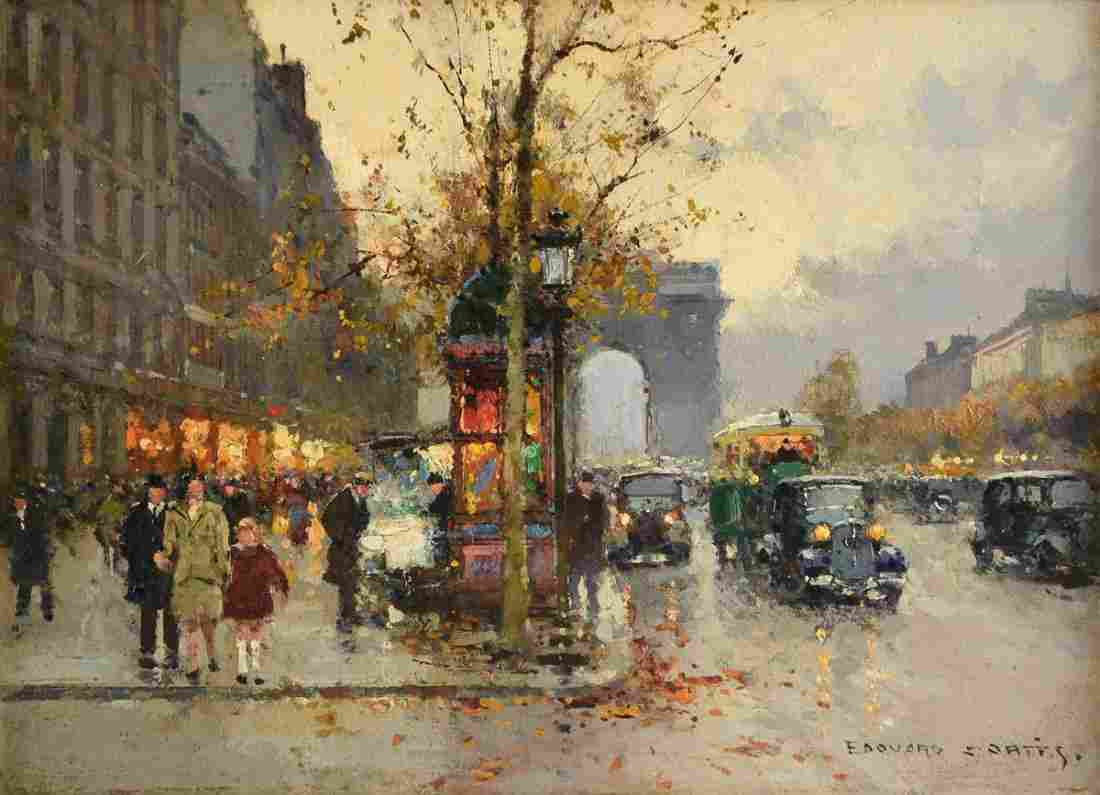 "ÉDOUARD CORTÈS (French 1882-1969) A PAINTING, ""Champs"