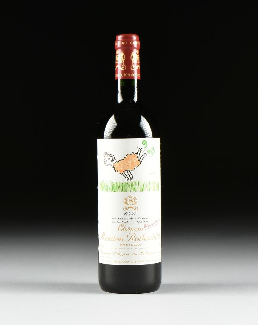 A BOTTLE OF 1999 CHATEAU MOUTON ROTHSCHILD, PAUILLAC,