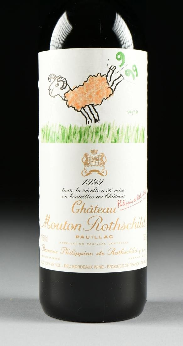 A BOTTLE OF 1999 CHATEAU MOUTON ROTHSCHILD, PAUILLAC, - 2