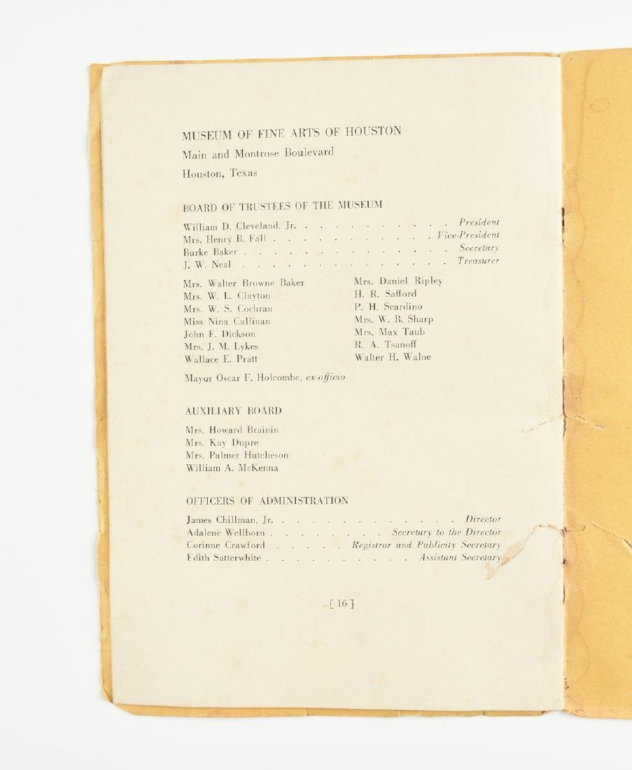 A MUSEUM OF FINE ARTS HOUSTON EXHIBITION CATALOGUE, - 20