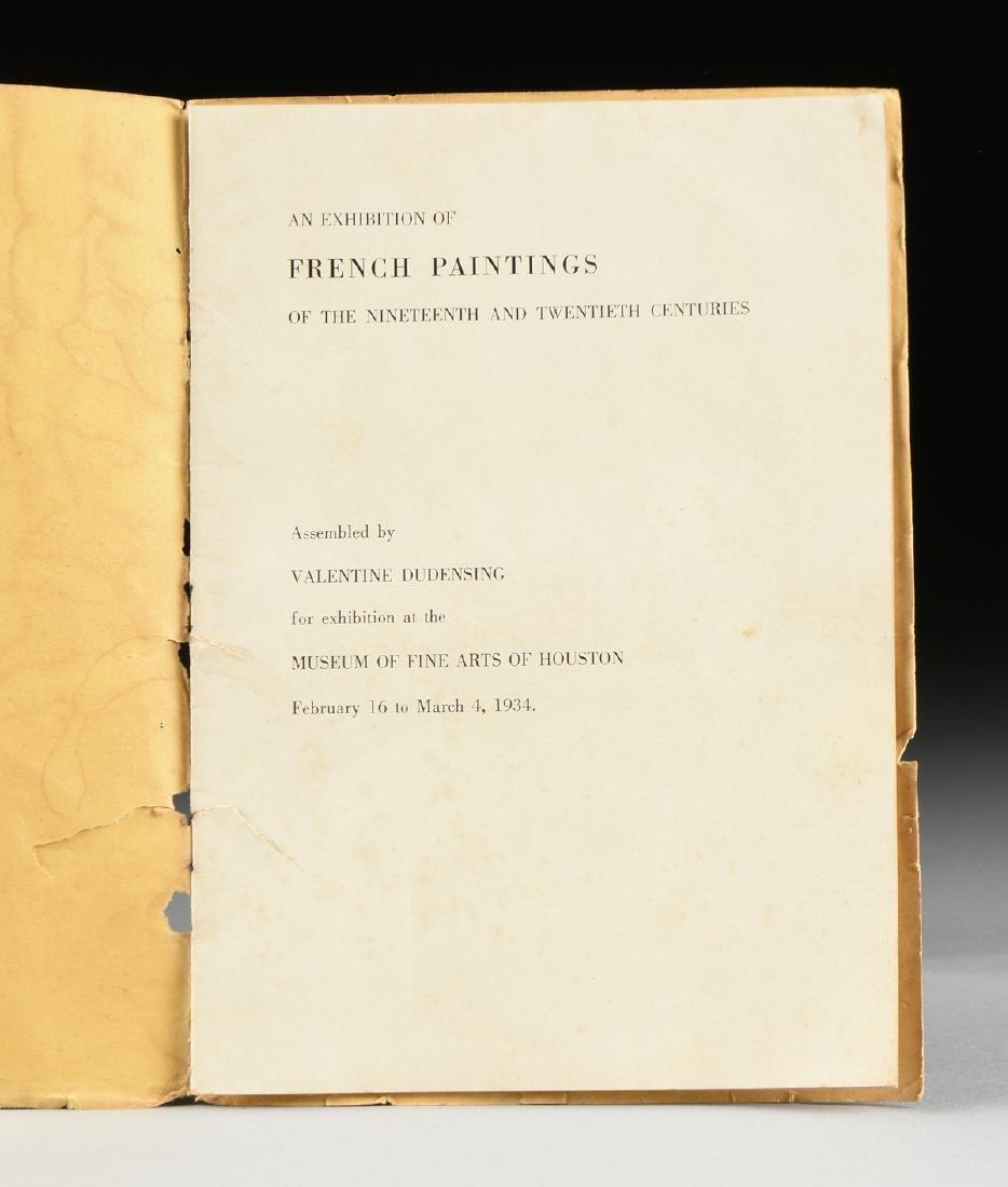 A MUSEUM OF FINE ARTS HOUSTON EXHIBITION CATALOGUE, - 2