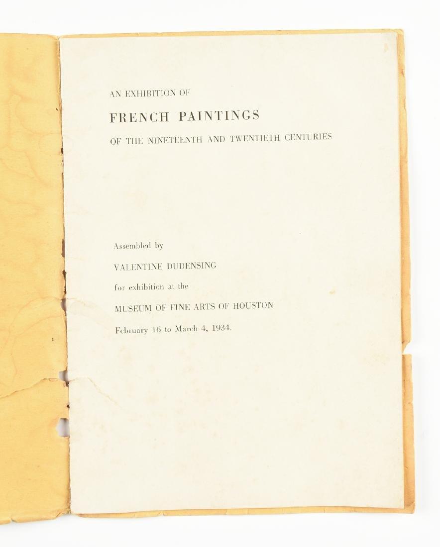 A MUSEUM OF FINE ARTS HOUSTON EXHIBITION CATALOGUE, - 9