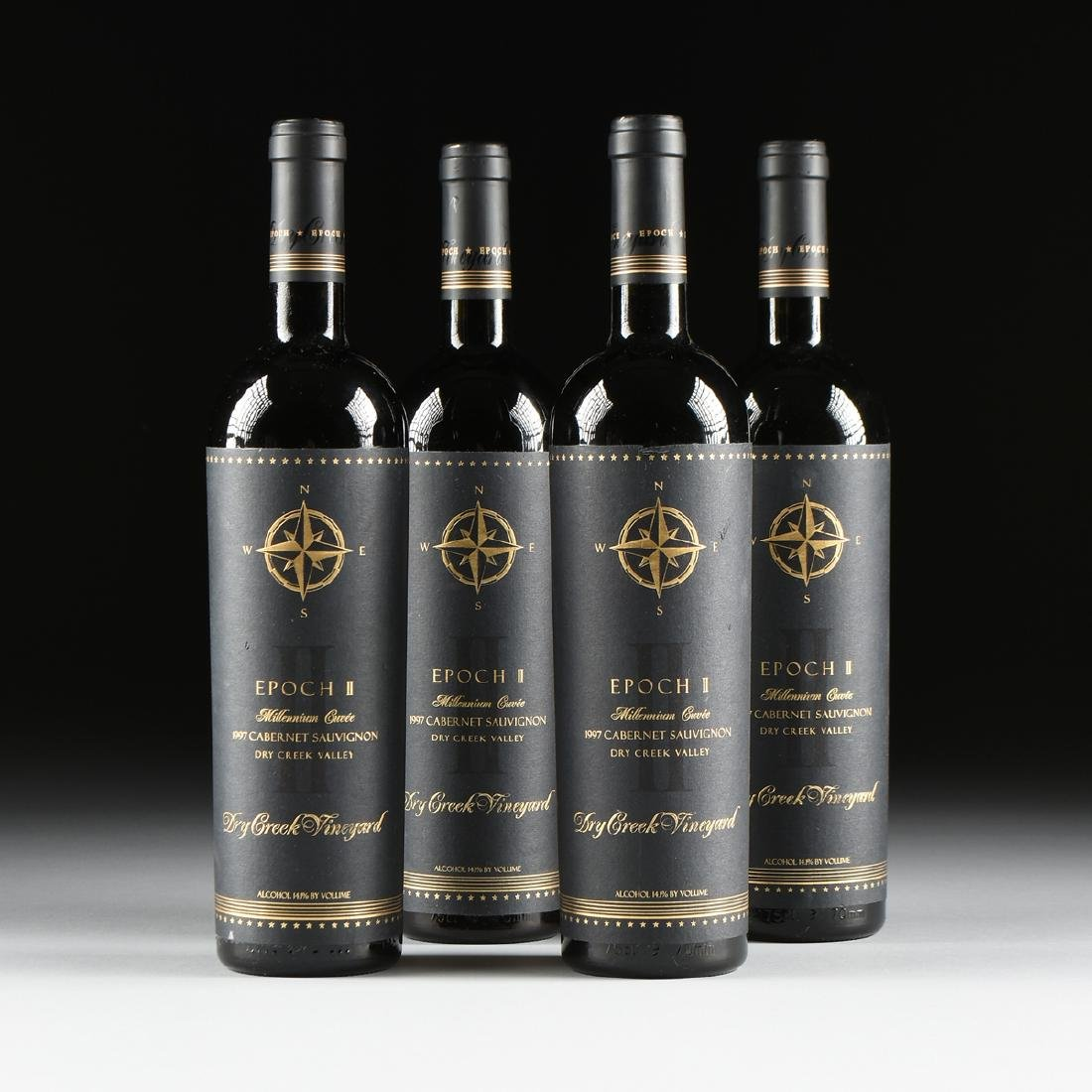 A GROUP OF FOUR BOTTLES OF 1997 EPOCH II MILLENNIUM