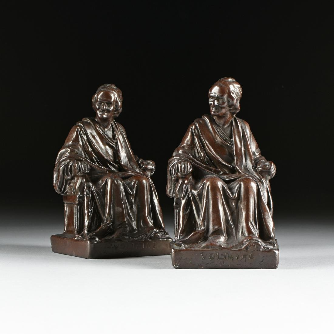 A PAIR OF CAST, PATINATED, AND LACQUERED  BRONZE - 3