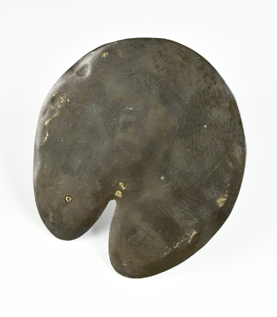 A PATINATED BRONZE LILLY PAD AND FROG SUNDIAL, LATE - 6