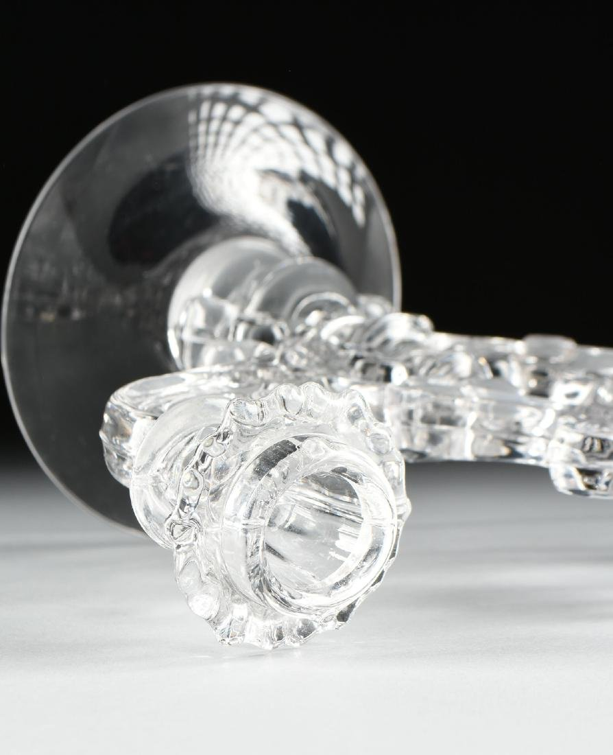 A PAIR OF AMERICAN PRESS MOLDED CLEAR CRYSTAL - 7