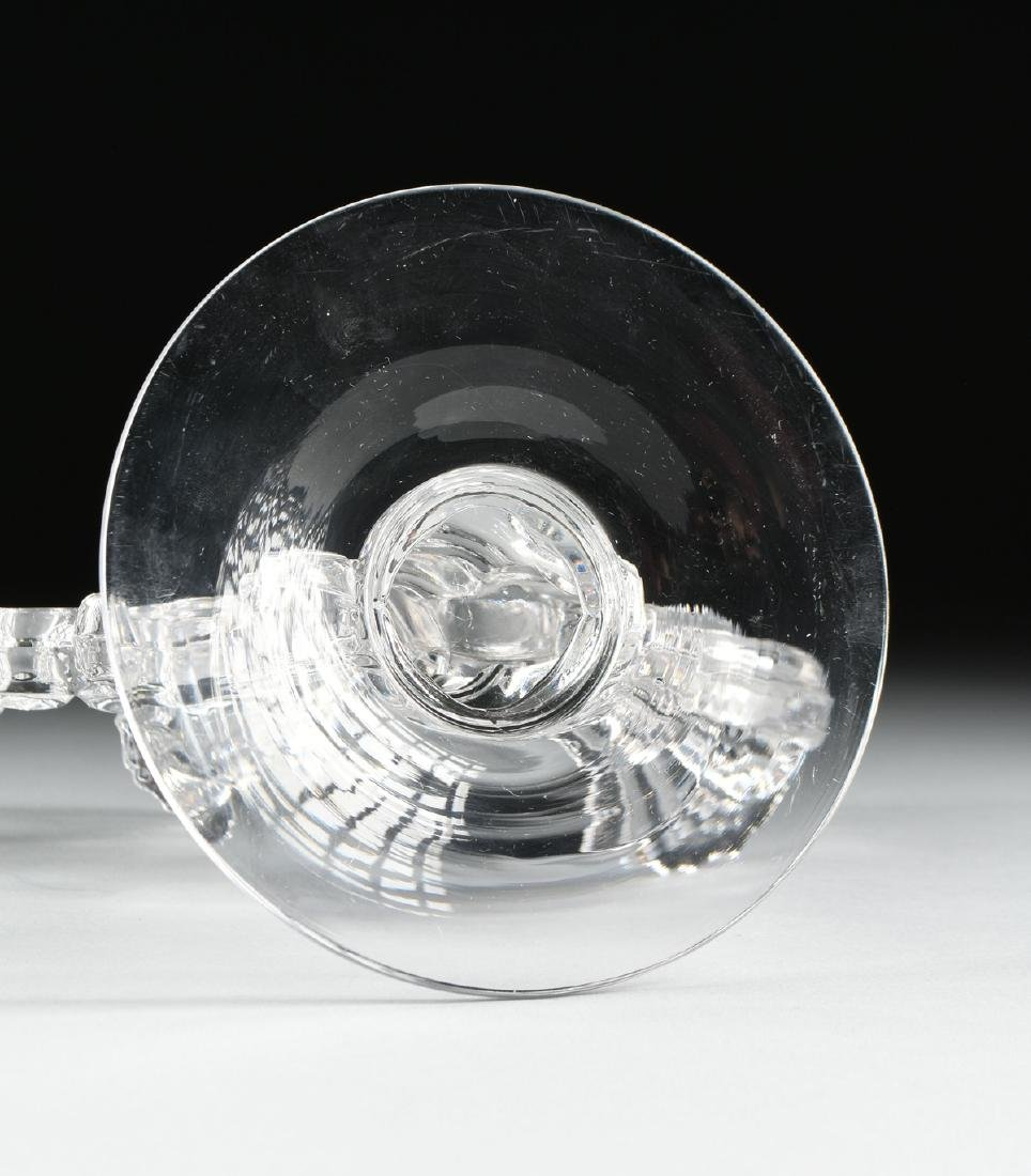 A PAIR OF AMERICAN PRESS MOLDED CLEAR CRYSTAL - 8