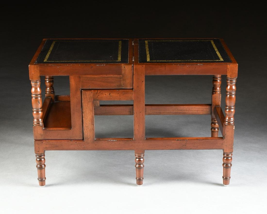 A PAIR OF GEORGIAN STYLE STAINED FRUIT WOOD METAMORPHIC - 8
