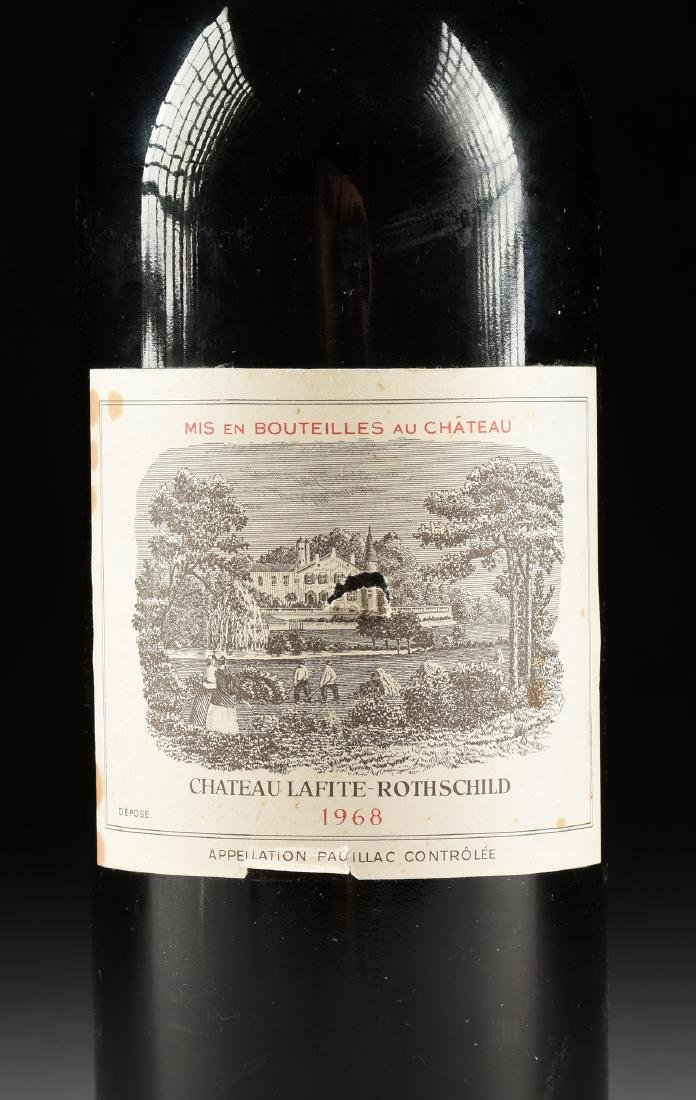 A BOTTLE OF 1968 CHATEAU LAFITE-ROTHSCHILD, PAUILLAC, - 2