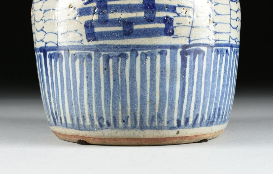 A CHINESE EXPORT BLUE AND WHITE PORCELAIN GINGER JAR, - 4