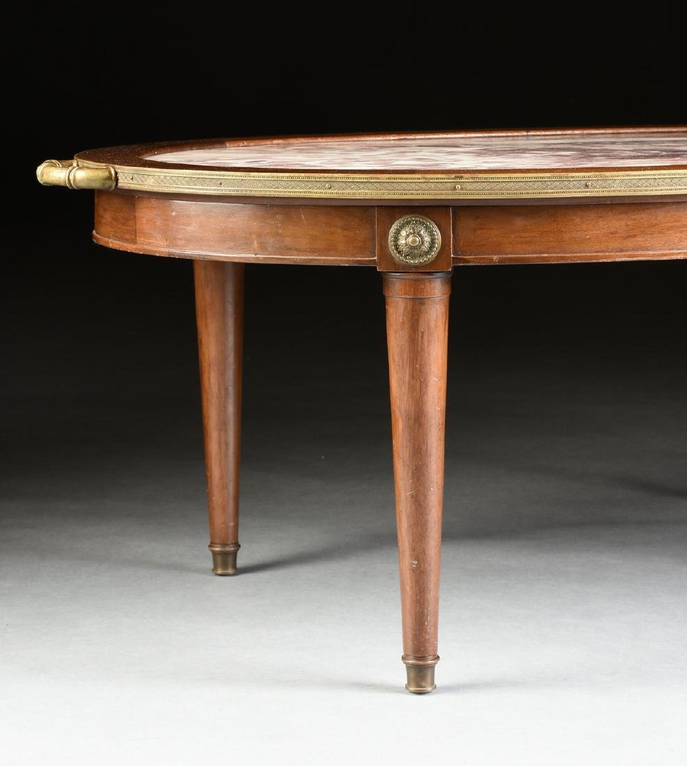 A LOUIS XVI STYLE GILT BRONZE MOUNTED AND CARVED WALNUT - 4