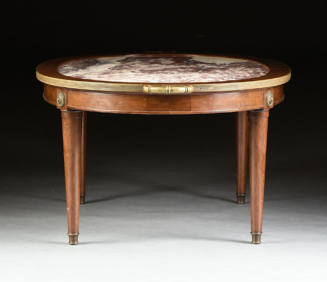 A LOUIS XVI STYLE GILT BRONZE MOUNTED AND CARVED WALNUT - 6
