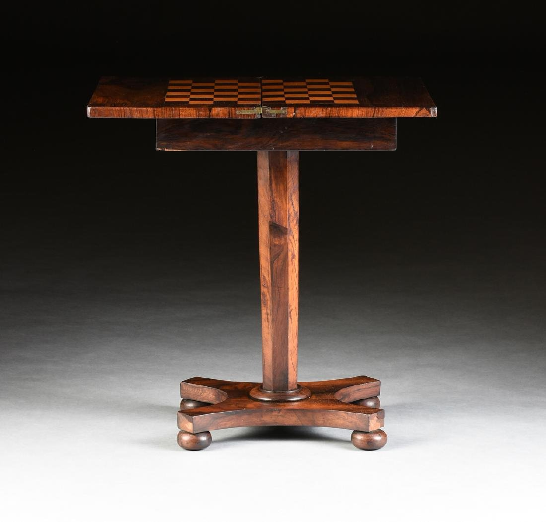 A SOUTHERN EARLY CLASSICAL ROSEWOOD PARQUETRY INLAID