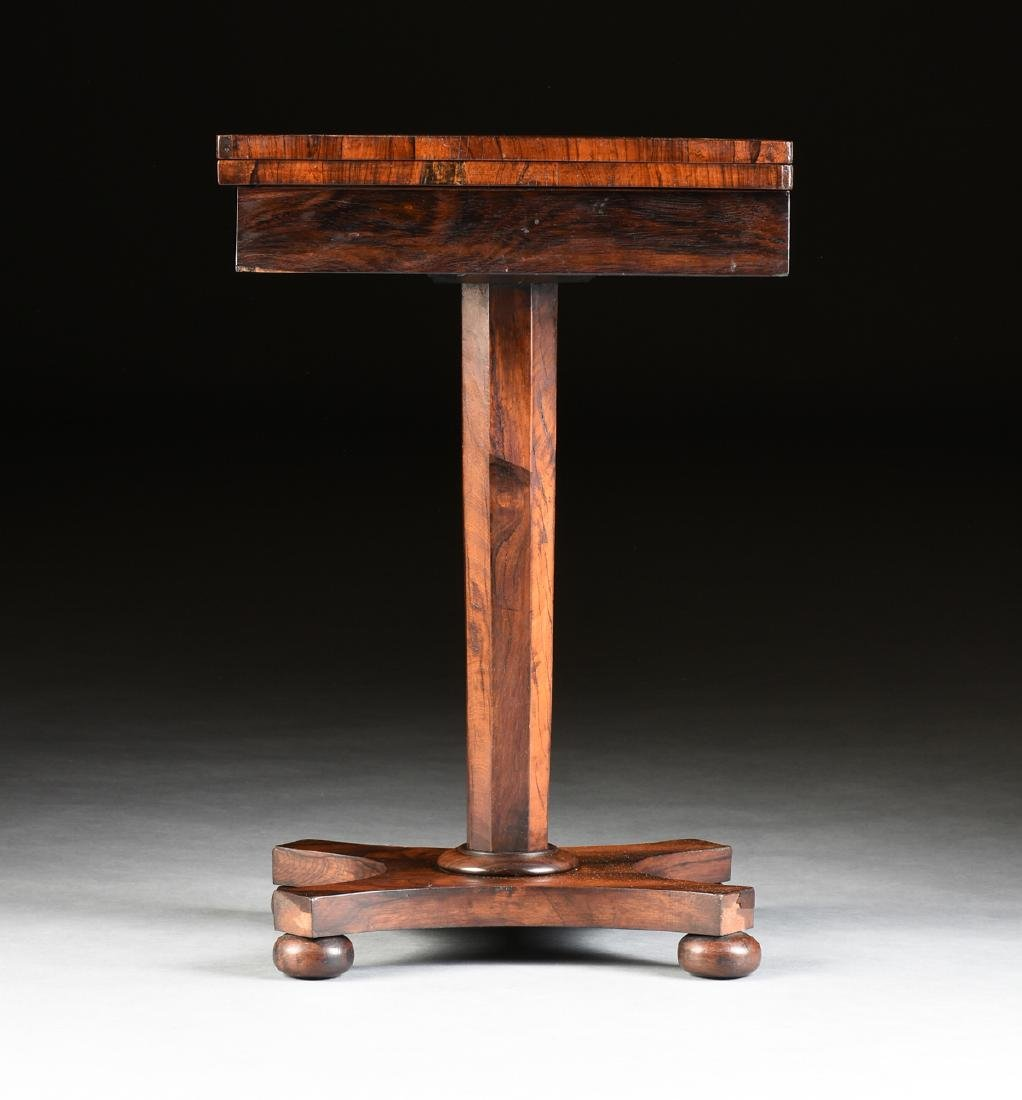 A SOUTHERN EARLY CLASSICAL ROSEWOOD PARQUETRY INLAID - 2