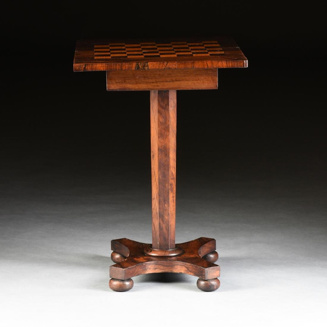 A SOUTHERN EARLY CLASSICAL ROSEWOOD PARQUETRY INLAID - 3