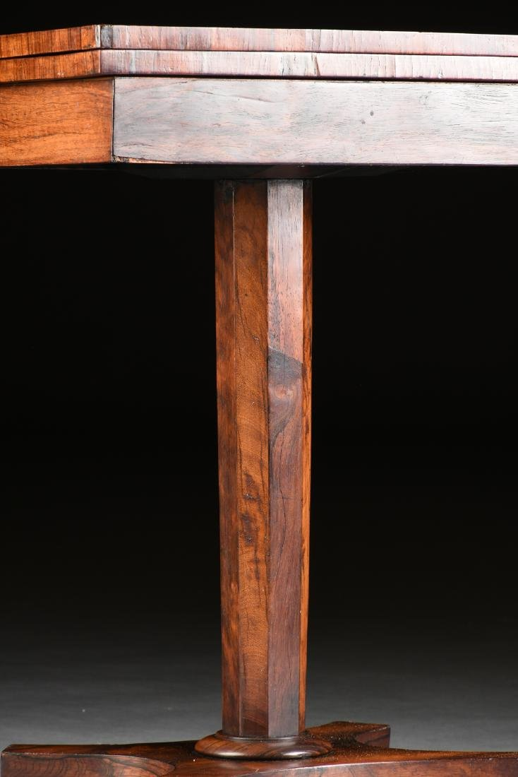 A SOUTHERN EARLY CLASSICAL ROSEWOOD PARQUETRY INLAID - 4